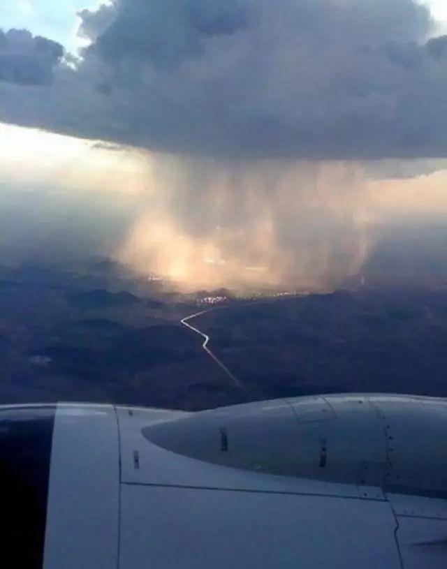空姐和机长在飞机上拍到的!大饱眼福
